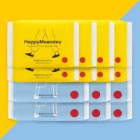 해피문데이 유기농 생리대 중형+대형 - 4달 세트(8팩+6팩)