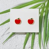 작은 사과 귀걸이