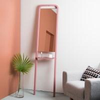 컬러풀 스탠딩 거울(로즈핑크)