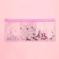 Pinky holic clear pouch_P_3.Glitter_Heart Shaker