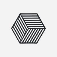 존덴마크 존 헥사곤 팟홀더 실리콘 냄비받침 - 블랙_(1153544)