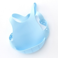 미닉오이오이 유아 실리콘 턱받이 블루색상