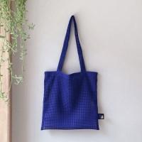 mesh layered bag_blue