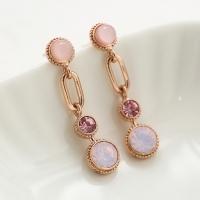 핑크 포인트 드롭 귀걸이