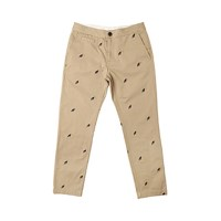 WHITE BLANK BIRD PATTERN PANTS(BEIGE)