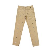 WOMENS MICKEY PATTERN CHINO PANTS (BEIGE)