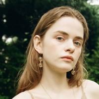 Gold Pebble Earring