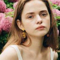 Yellow Grape Earring