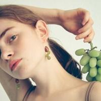 Grape Flower Earring