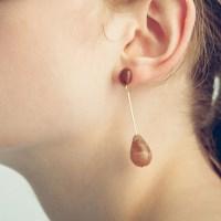 Brown Piece Earring
