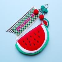 토이 키링-수박 동전 카드지갑