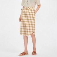 choice check skirt_(1000643)