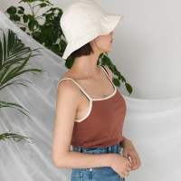 bias square neck sleeveless