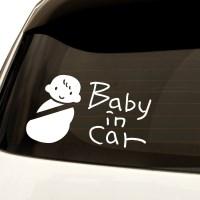 1AM 자동차스티커 심플 Baby in car 아이_(1116014)