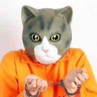 리얼 고양이가면-브라운(오가와 스튜디오 정품)
