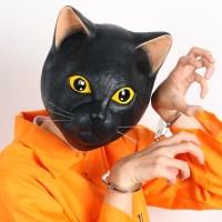 리얼 고양이가면-블랙(오가와 스튜디오 정품)