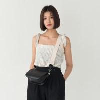 shoulder ribbon stripe sleeveless
