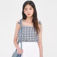 mimi check linen sleeveless_(1003496)