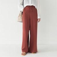 banding high waist maxi pants