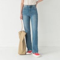 medium high waist straight jean