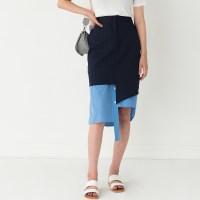unique unbalance banding skirt