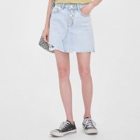 button cutting mini skirt (s-xl)_(1004541)