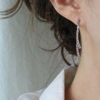 마카사이트 나뭇가지 드롭 귀걸이
