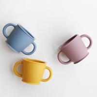 파스텔 실리콘 어린이 양손손잡이 컵(3color)_(1645439)