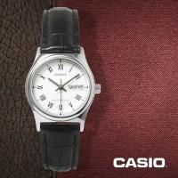 카시오 CASIO LTP-V006L-7B 여성용 가죽밴드 아날로그시계