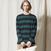 LT237_Bold Stripe Long Sleeve TEE_NAVY-GREEN