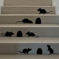 할로윈 진짜같은 쥐 실루엣 set