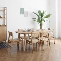 [오크] A형 커브 식탁/테이블 세트_(1027683)