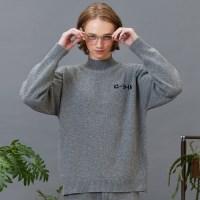 RC lambs wool half-pola knit (gray)[9/14예약주문]