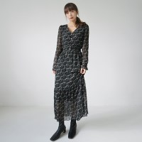 Feminine chiffon floral dress