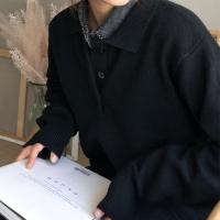 울 카라 니트 (3color)