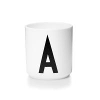 [디자인레터스]포슬린 알파벳 컵(화이트)-알파벳선택_(840414)