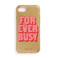 LEATHERETTE IPHONE CASE - FOREVER BUSY(아이폰 7,8호환)