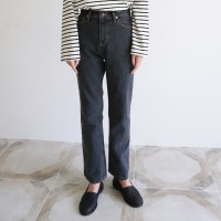 Vintage washing black denim