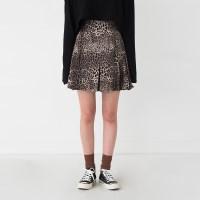 leopard frill mini skirt