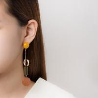 롱 동그라미 도형우드 귀걸이