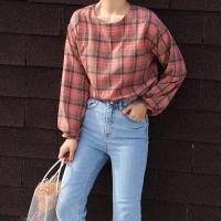 Vintage check blouse