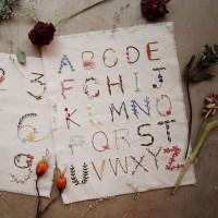 프랑스자수 가랜드 DIY 키트 - 보태니컬 알파벳 Botanical alphabet