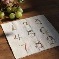 프랑스자수 첫걸음 - 꽃과 풀로 수놓는 숫자 가랜드 만들기 DIY KIT