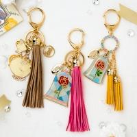 [Disney]미녀와야수_시들지않는장미 키링