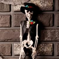 미니 신사해골 인형장식 40cm
