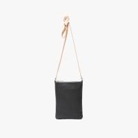 [타시나미] 베이직 천연 가죽 크로스 숄더백 블랙