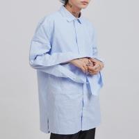 side hidden button stripe shirts (2 color) - UNISEX_(1065063)