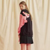 [FW18 Pink Panther] Fur Sleeve Sweatshirts(Black)