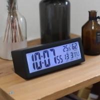 [무아스] 캘린더 온습도 백라이트 탁상시계