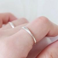 (92.5 silver) slim wave ring